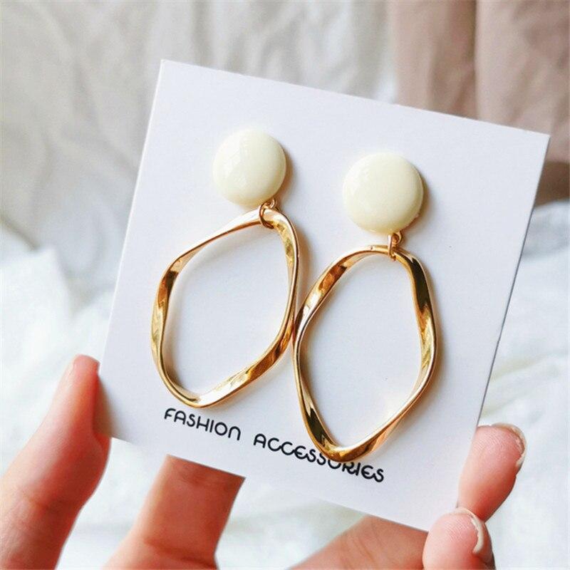 Dangle Earrings for women Fashion metal pendant earrings long irregular geometry Hyperbole big earrings Nightclub jewelry