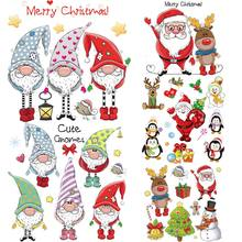 Shirt Patch Shoes Heat-Transfer-Stickers Christmas-Set Parches Iron-On Fashion Diy-Accessory