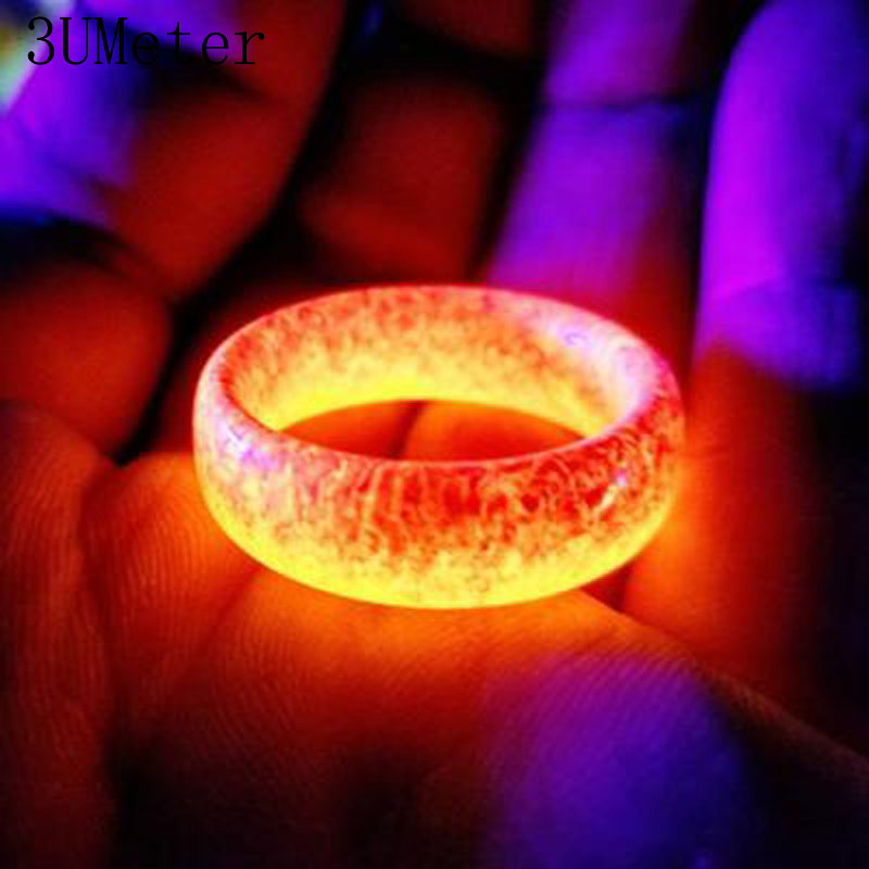 3umeter Couple Rings Punk Resin Luminous Party-Colors Fashion Gift title=