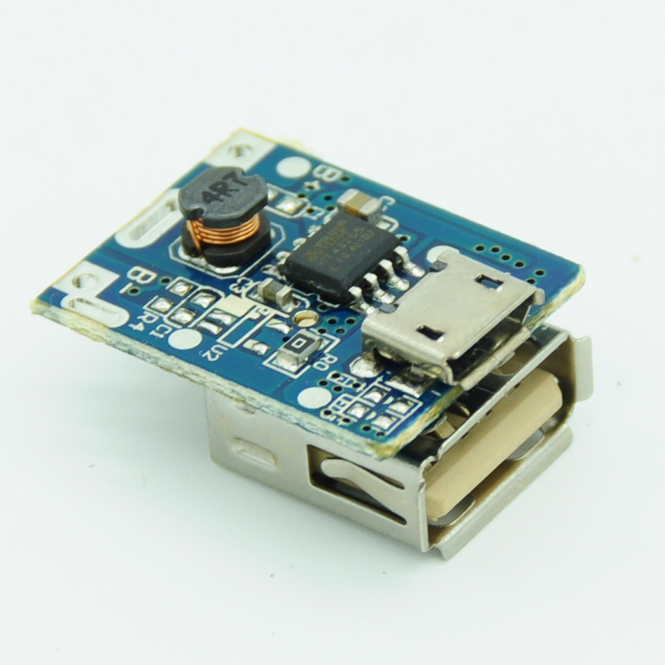 5V 1A Step-Up Power Module Li-Po Li-ion Lithium Battery Charging Protection Board Booster Converter Micro USB DIY Charger 134N3P (7)