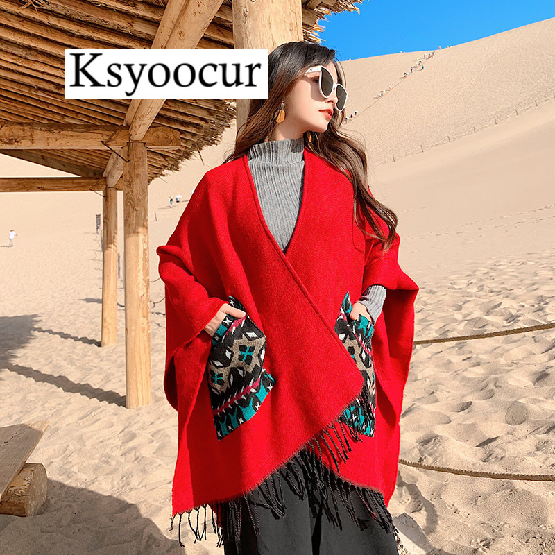 Size 150*130cm, 2020 New Autumn/Winter Long Section Cashmere Fashion Scarf Women Warm Shawls and Scarves Brand Ksyoocur E36