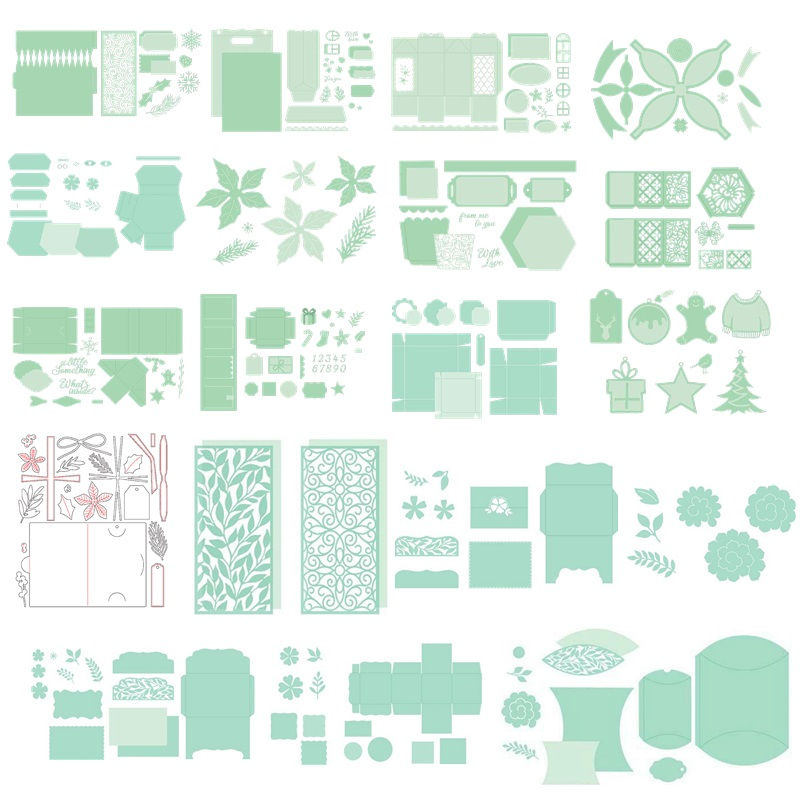 DeemoShop Wreath Bow Stitch Metal Cutting Dies 2018 Craft Christmas Dies Scrapbooking DIY Alubm Photo Card Cut Decorations