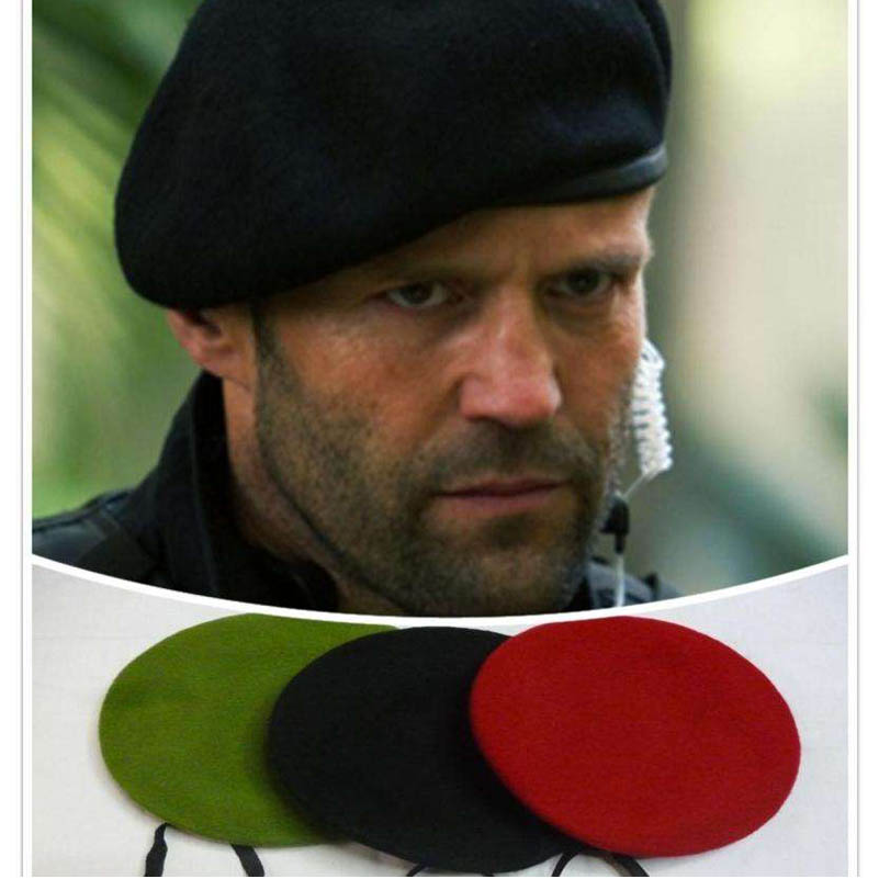 High Quality Jason Statham Men Beret Hat Male Wool Ivy Caps Gift title=