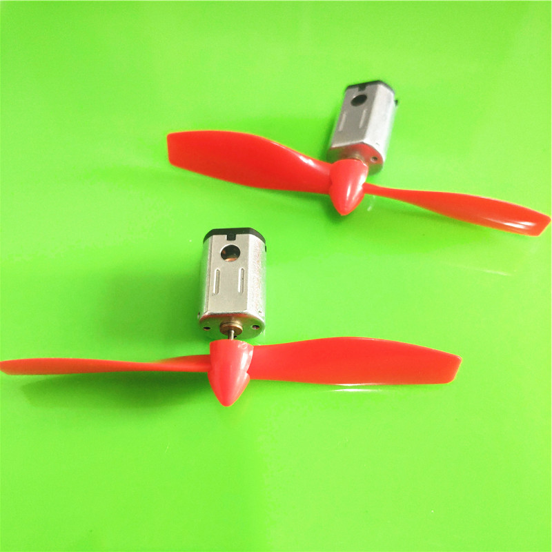 2set/pack S382 3V 17000RPM Micro DC Motor with Black Red CW CCW Propeller Model Airplane Helicopter Fan DIY Parts Dropshipping