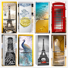 3d-Wallpaper Decal Mural Wardrobe Sticker Fridge-Decoration Refrigerator Vinyl Kitchen