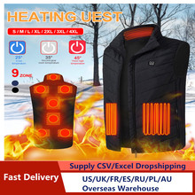 Heated-Vest Winter Men Women Thermal-Clothing Elektrich Places 2/8/9