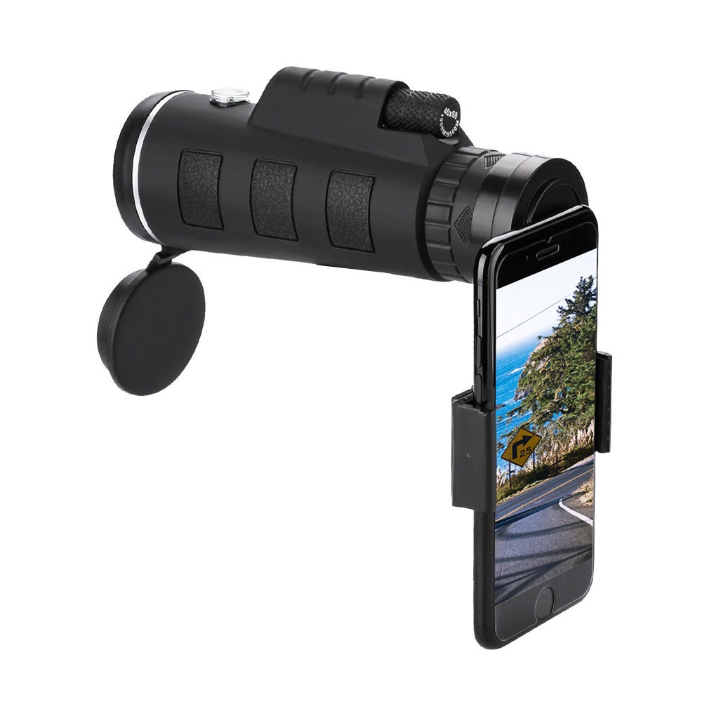 Hair Drier - 40X60 Zoom Optical HD Lens Monocular Telescope + Clip For Universal Phone HD Night Vision with Phone Clip and Tripod