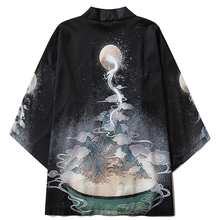 Samurai Costume Jacket Yukata Japanese Kimono Asian Cardigan Men Shirt Clothing Summer