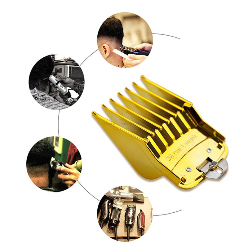 8PCS Professional Limit Comb Cutting Guide Combs 1.5/3/4.5/6/10/13/19/25MM Hair Clipper Trimmer Cutting Tools Kit