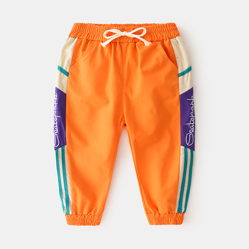 Spring New Arrival Toddler Boy Pants Casual Splice Harem Pants for Boy 3 4 5 6 7 8 9 Y Kids Trousers Drawstring Child Sweatpants