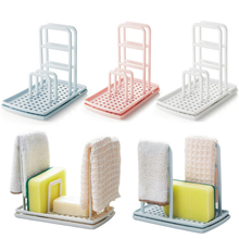 Shelves Soap-Shelf Rag-Rack Storage-Holders Punch-Sponge Kitchen-Table Dishwashing Foldable