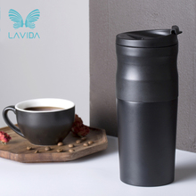 LAVIDA Coffee Machine Portable Mini Coffee Grinder Maker Milling Coffee Bean for Camping Hiking Sports Travel Diving Kitchen