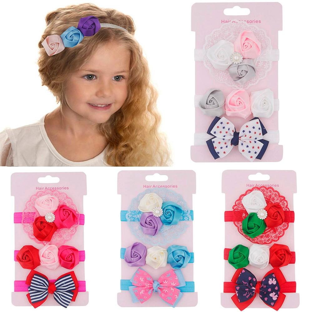 3Pcs/set Baby Girls Boys Headbands Toddler Hair Children