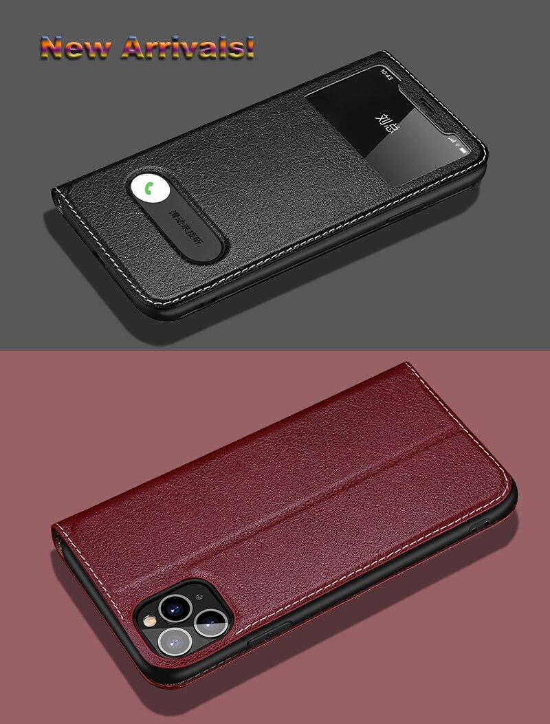 iphone11智能翻盖牦牛皮套白底图_01