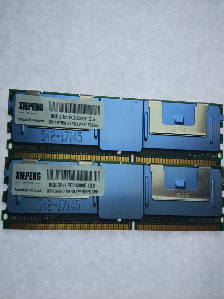 16GB 2x 8GB DDR2 2RX4 667Mhz PC2-5300F FBDIMM ECC Server RAM Memory FOR KINGSTON