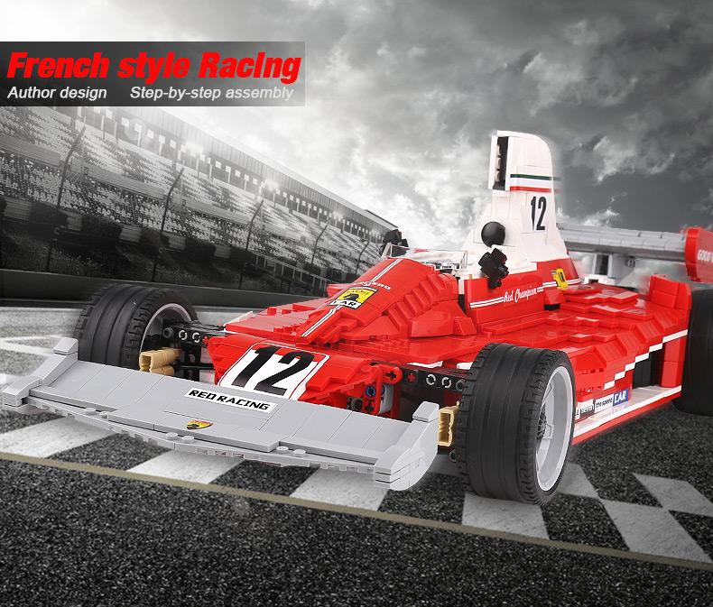 XingBao XB-03023 Red Power Racing Car Ferrariii 312T Building Block 13