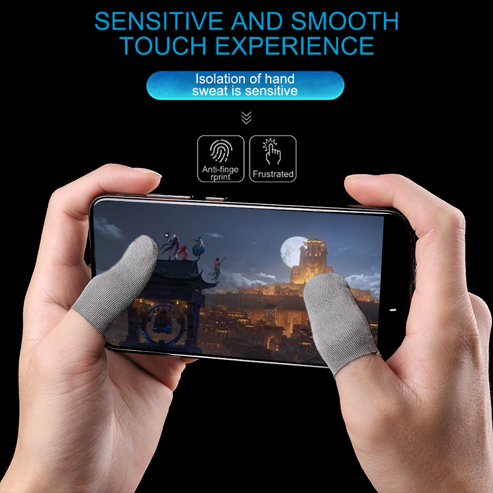 Finger-Cover Game-Controller Touch-Screen Sensitive-Sleeve Sweat-Proof Non-Scratch Mobile title=