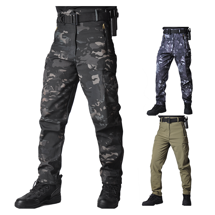 Men Tactical Cargo Pants Combat  Army Training Military Pants Camouflage Rip-stop Fleece Trousers Militar Army Hunting Pants