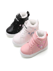 Shoes Kids Boots Hook Loop Warm Toddler Winter Baby-Girls Soft Casual Cartoon Cat