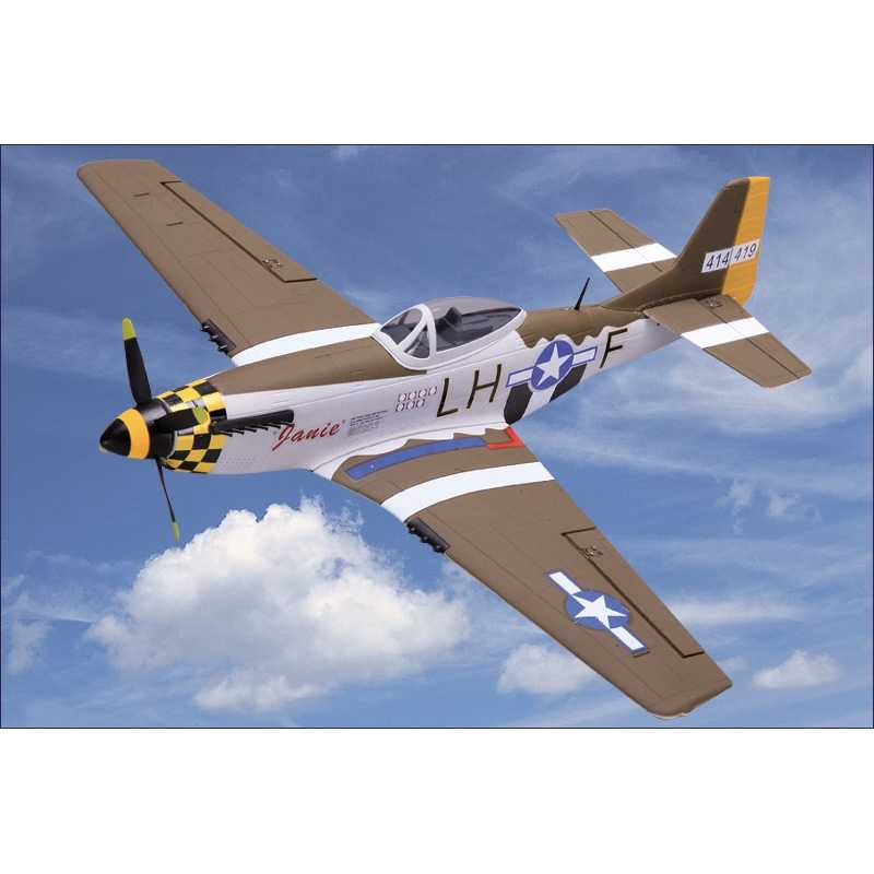 NiceSky P-51 7.4V 650MAH Remote Control RC Airplane EPP 680mm Wingspan Mini Plane PNP Toys
