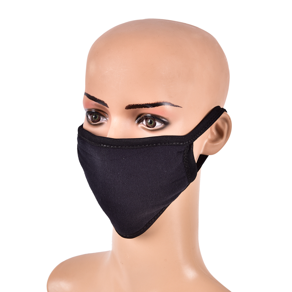 1PC Black PM2.5 Anti Haze Mask Anti-Dust Face Mouth Mask Nose Filter Windproof Face Muffle Bacteria Flu Fabric Cloth Respirator
