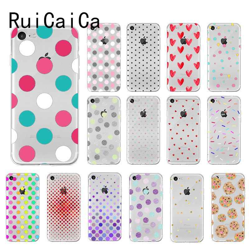 Ruicaica Colored Polka Dots Diy Printing Drawing Phone Case For