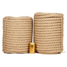 Hemp-Rope Decoration Crafts Jute-Roll Natural DIY 1-35mm Tied High-Quality