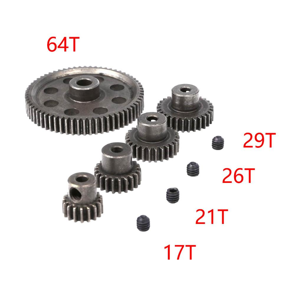 HSP RC 1//10 11184 /& 11189 Differential Steel Metal Main Gear 64T Motor Gear 29T