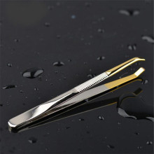 Eyebrow-Tweezer Pince Make-Up-Tools Stainless-Steel Epiler Face-Hair-Removal Slant-Tip