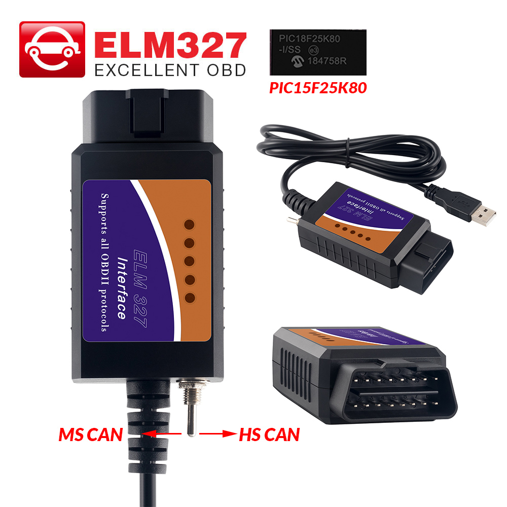 Switch Diagnostic-Tool Car-Code-Reader Ftdi-Chip Elm 327 Bluetooth Wifi OBD2 Ford USB title=