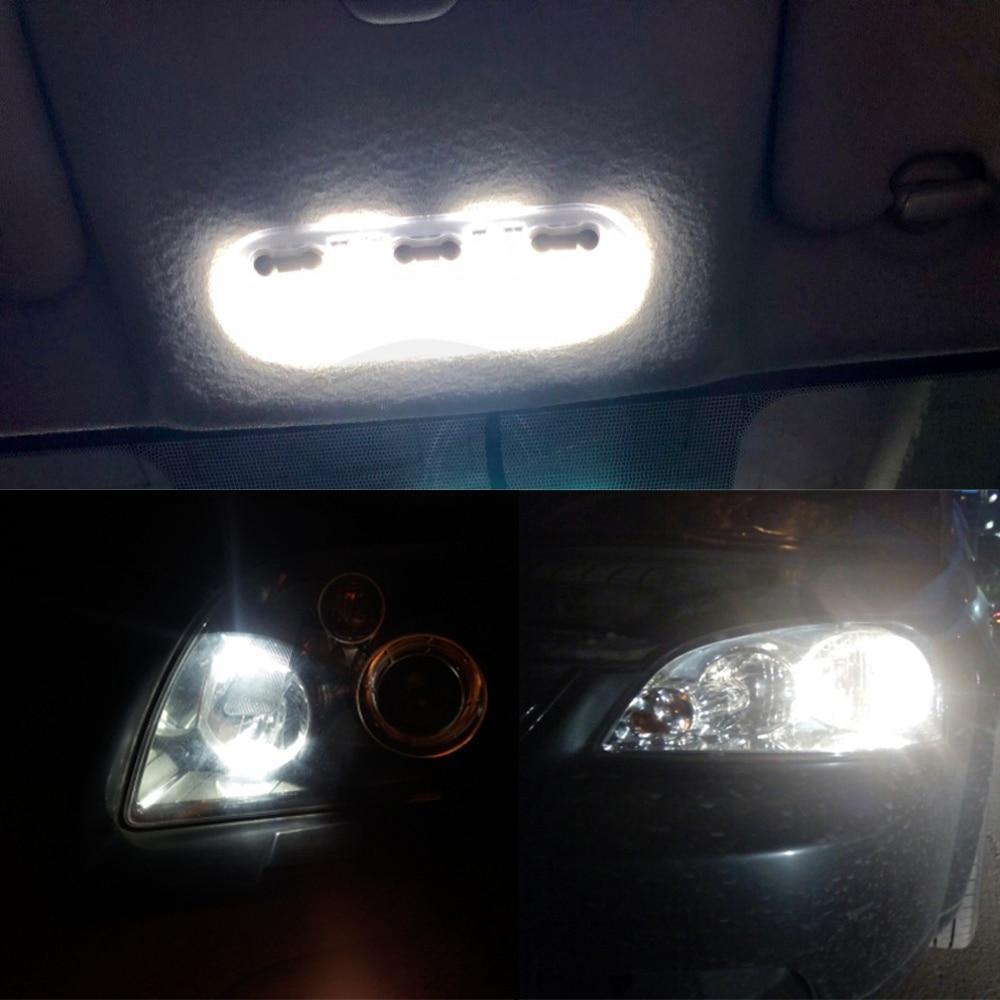 20Pcs White T10 W5W 194 168 LED Car Dashboard Dash Panel Light Side Wedge Bulbs