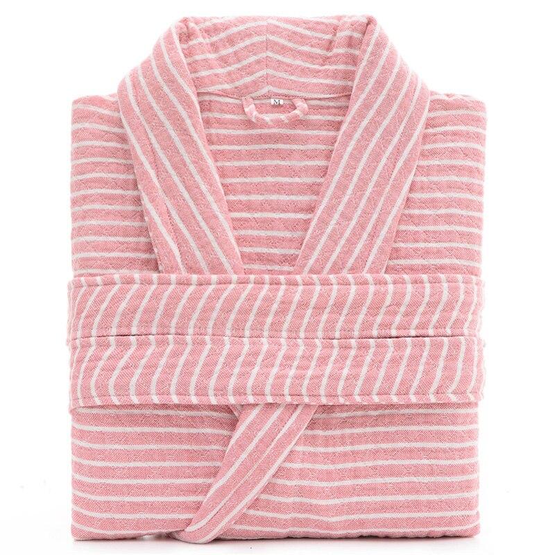 Three layers 100% Cotton Unisex Robe Sexy Bath Robe Men And Women Sleepwear Washing Gauze Sleeprobe Females Casual Home Bathrobe