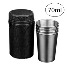 Travel Mug Case-Cover Coffee-Cup Stainless-Steel Outdoor Camping Portable with 4 4pcs/Set