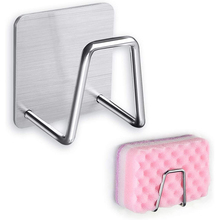Shelf Sponge-Holder Storage-Accessories Drain-Rack Adhesive Kitchen-Organizer Stainless-Steel