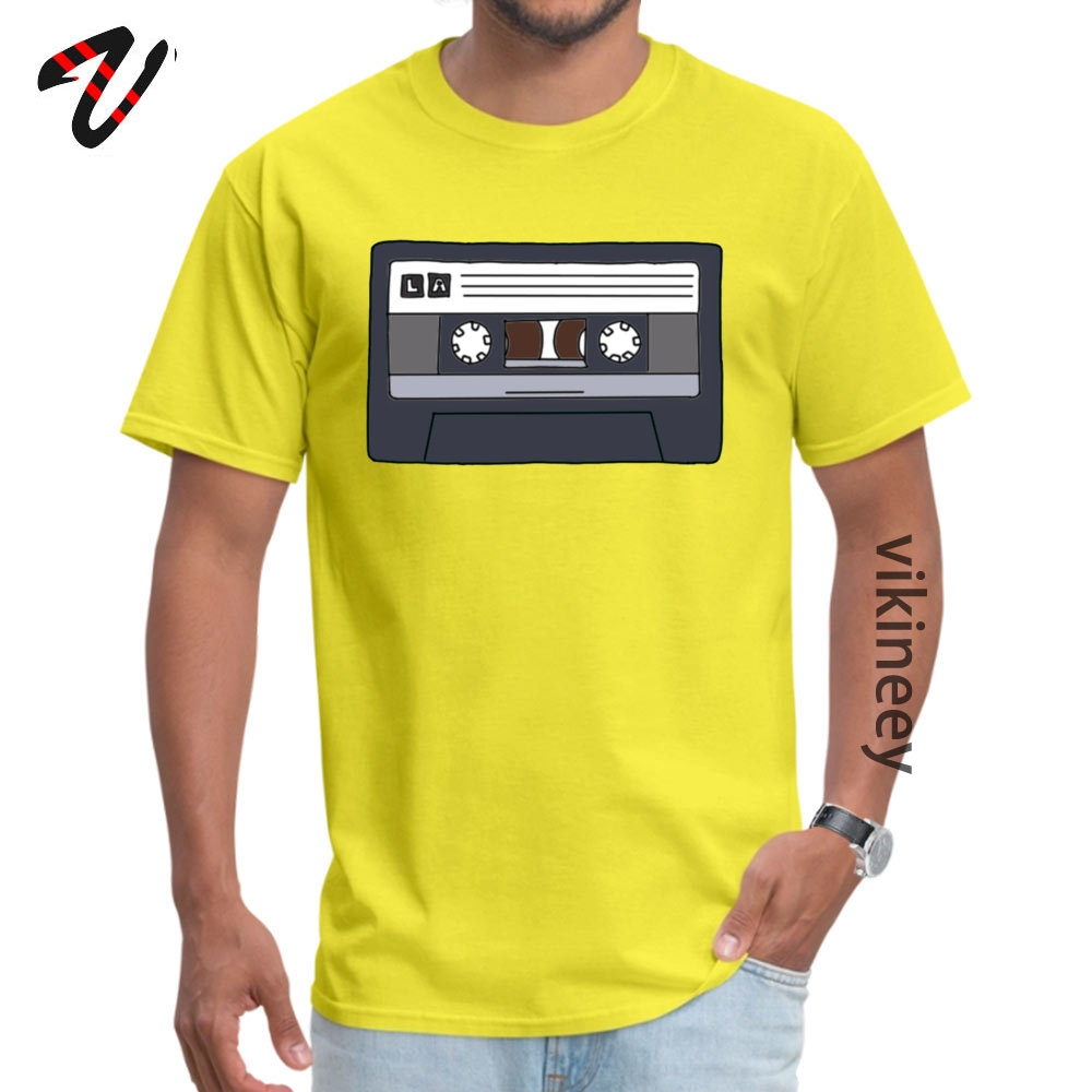 Lacassette Summer Cotton Fabric O-Neck Tops Shirt Short Sleeve Unique Sweatshirts Faddish Classic T-Shirt Drop Shipping Lacassette 7654 yellow