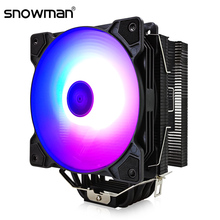 SNOWMAN 6 Heat Pipes CPU Cooler ARGB 120mm PWM 4 Pin PC Radiator Quiet for Intel LGA 2011 1150 1151 1155 AMD AM4 CPU Cooling Fan
