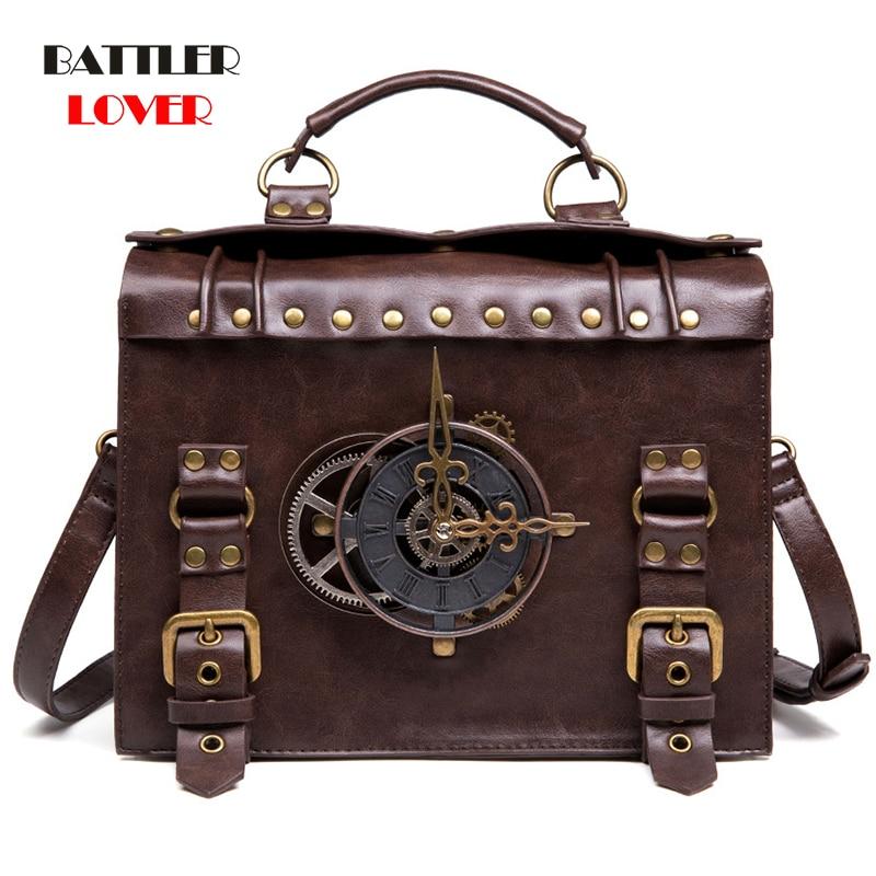 Steampunk Handbag Retro Gothic Bags for Women 2020 Handbags Cross Body Bags Cool Lolita Style Shoulder Bags High Quality Leather