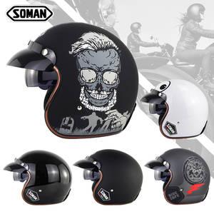 Harley Motorrad Crash Harley Helm 3//4 Cafe Racer Cruiser Chopper Offenes Gesicht Retro Shell Helm Leichte Half Helme,M