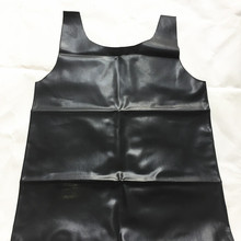 Vest Lingerie Swimsuit Short-Shirts Tank-Tops Rubber Latex Erotic Sexy Men's Hot Black