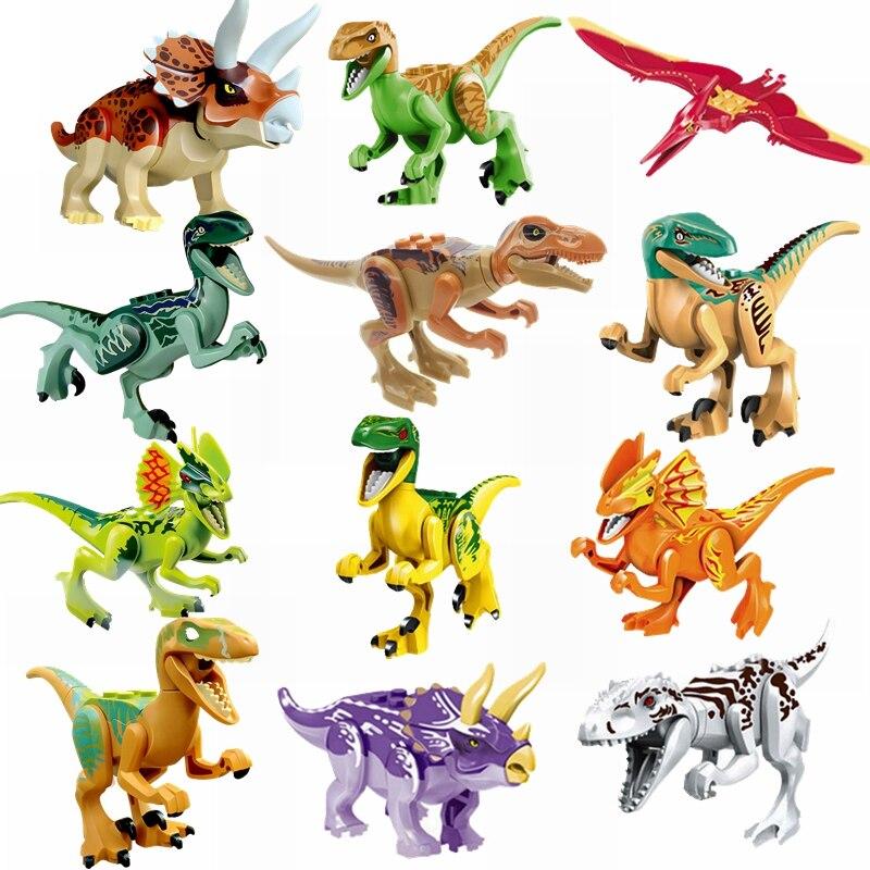 Dinosaur Building Block Toy & Hobbies Triceratops Indominus Rex Dilophosaurus Velociraptor Charlie Blocks Dinosaur Children Gift