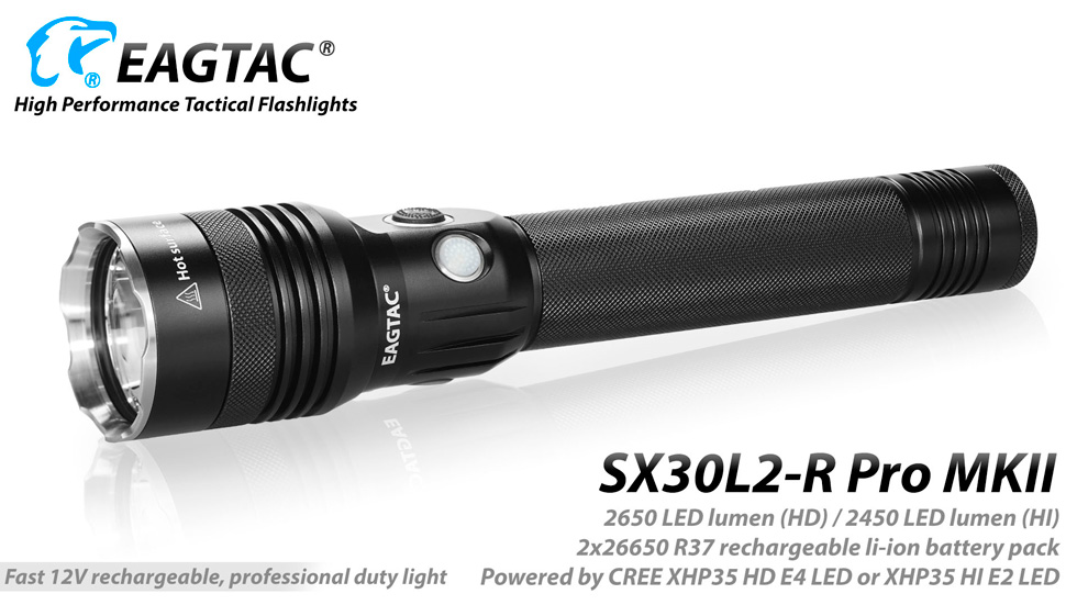 Professional Handheld LED Tactical Rechargeable Flashlight Kit w// Batteries New