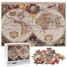 1000 Piece Puzzle Toy Old World Vintage Nautical Map Puzzle Adult Kids Fun Educational Toy Puzzle Gifts For Kids