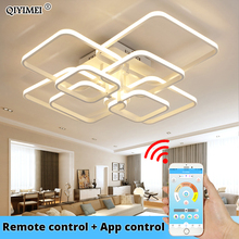 Led Chandelier Acrylic-Lights Ceiling-Fixtures Bedroom Living-Room Modern Remote-Control