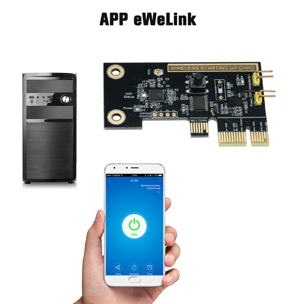 Leepesx eWeLink Mini PC de sobremesa-e Control Remoto Tarjeta de Interruptor WiFi Interruptor Inteligente inal/ámbrico M/ódulo de rel/é Reinicio inal/ámbrico Interruptor Encender//Apagar Tarjeta de Arran