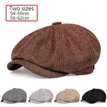 2020 New men's casual newsboy hat spring and autumn retro beret hat wild casual hats unisex wild octagonal cap(Китай)