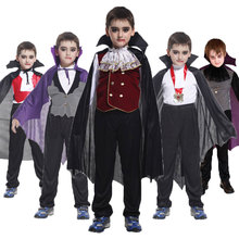 Umorden Vampire Costume Fantasia Prince Cosplay Count-Dracula Carnival Party Halloween Kids