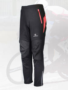 Queshark Cycling-Pants Bike Sports-Trousers Fleece Warm Waterproof Winter Women Riding