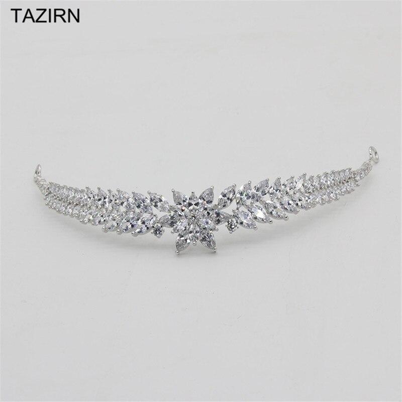 Wedding Accessories Zircon Crowns Bridal Tiaras Bride Headpieces Copper Royal Queen Pageant Trendy Crown 2020