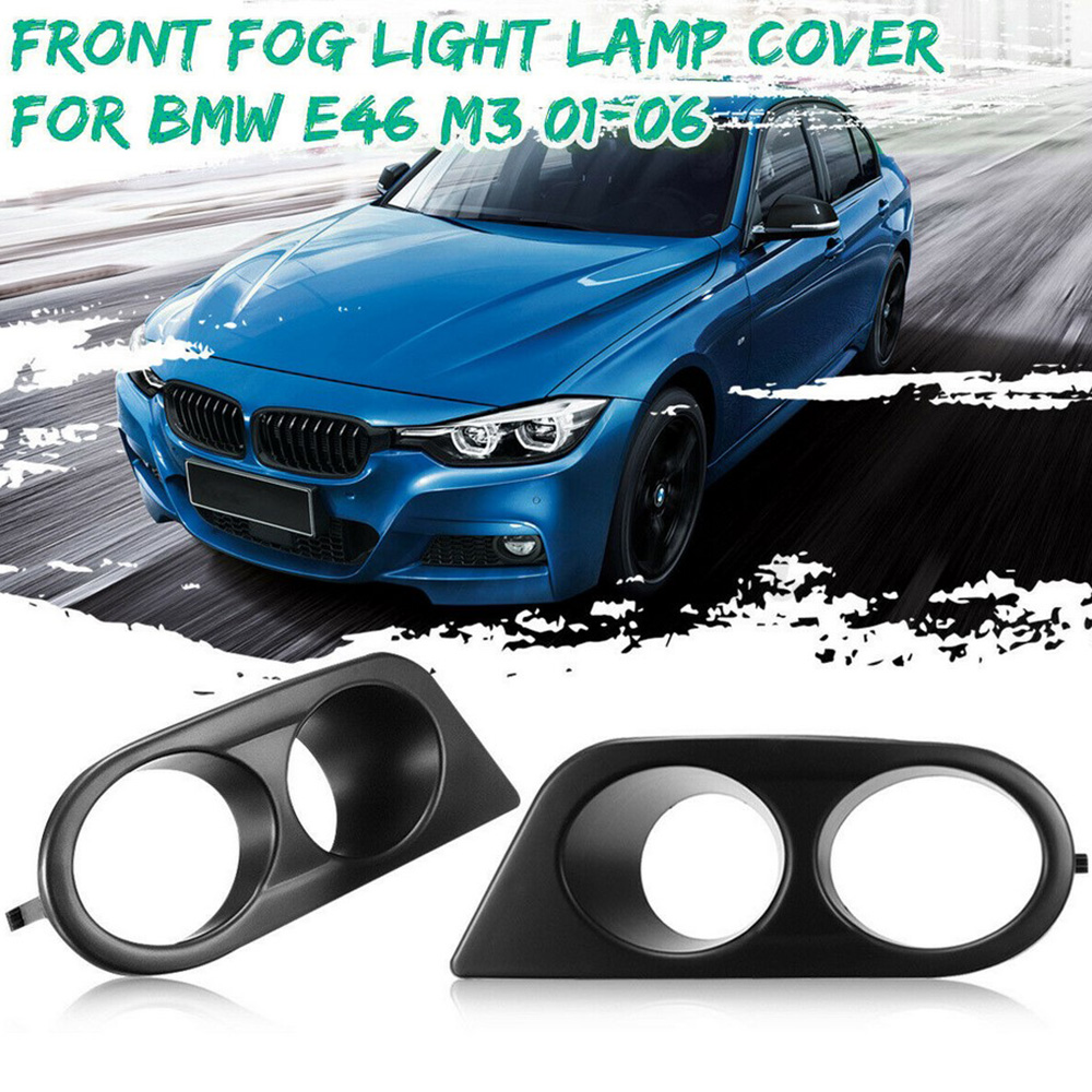 01-06 BMW E46 M3 Clear Front Bumper Fog Lights w// Covers