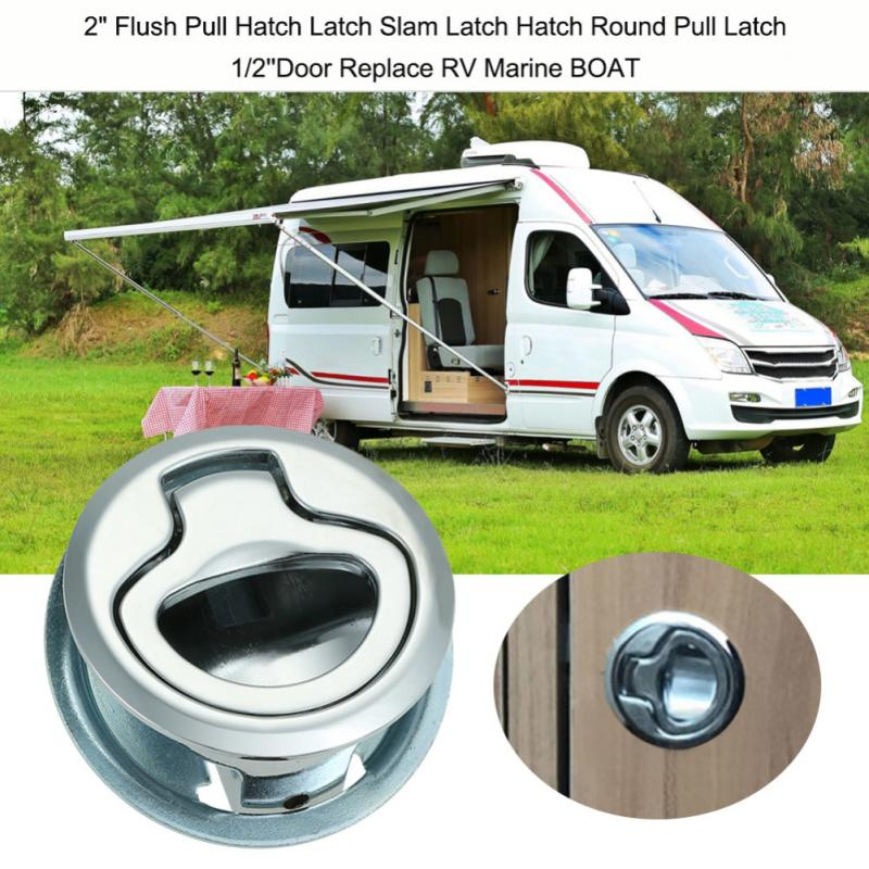 """2/"""" Latch Flush Pull for 1//4 door Boat Deck Hatch RV Drawers Cabinet White 4x"""